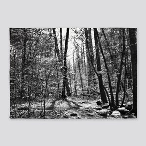 Black and White Forest 5'x7'Area Rug