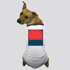 ROTHKO RED AND BLUE Dog T-Shirt