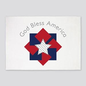 God Bless America 5'x7'Area Rug