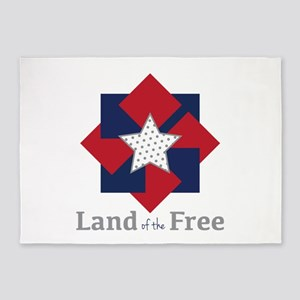 Land Of The Free 5'x7'Area Rug