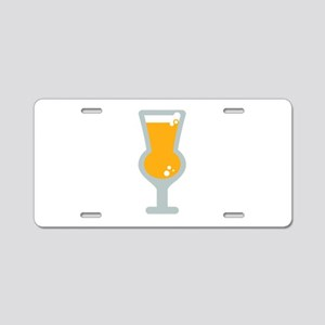 Thistle Beer Glass Aluminum License Plate