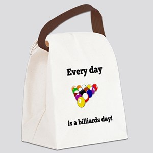 Every Day Is A Billiards Day Canvas Lunch Bag