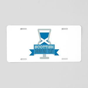 Scottish Drinking Team Aluminum License Plate