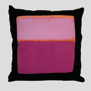 ROTHKO PINK RASBERRY AND ORANGE Throw Pillow