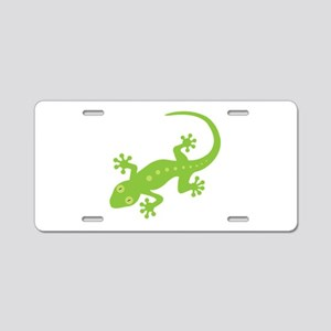 Gecko Lizard Aluminum License Plate