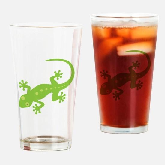 Gecko Lizard Drinking Glass