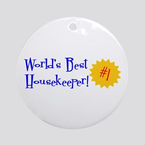 World's Best Housekeeper Ornament (Round)