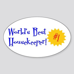 World's Best Housekeeper Oval Sticker
