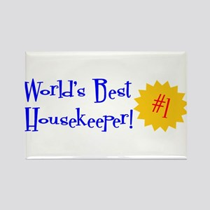 World's Best Housekeeper Rectangle Magnet