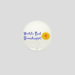 World's Best Housekeeper Mini Button