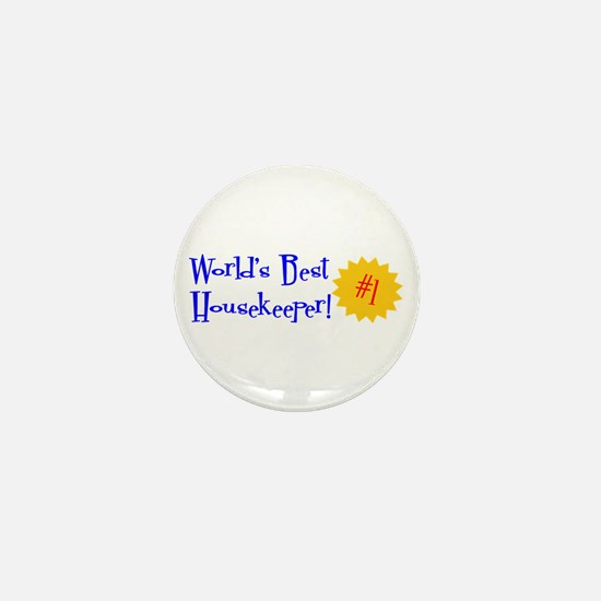 World's Best Housekeeper Mini Button