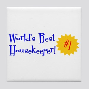 World's Best Housekeeper Tile Coaster
