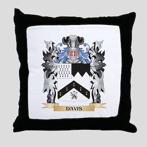 Davis Coat of Arms - Family Crest Throw Pillow