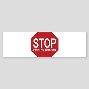 stop finning sharks sign Bumper Sticker