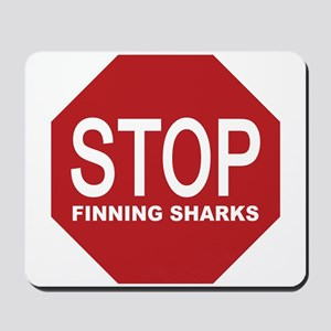 stop finning sharks sign Mousepad