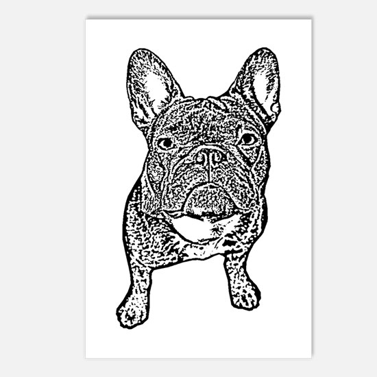 BIG FRENCHIE SKETCH Postcards (Package of 8)