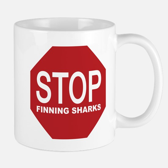 stop finning sharks sign Mugs