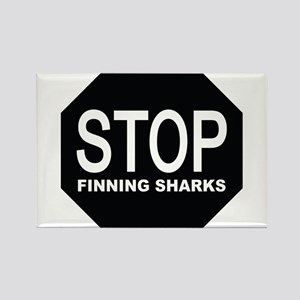 stop finning sharks sign Magnets
