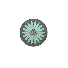 Cute Mint Floral Mini Button