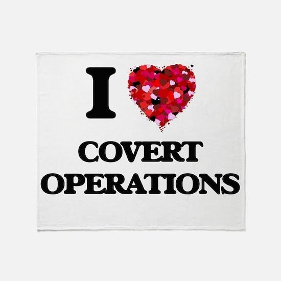 I love Covert Operations Throw Blanket