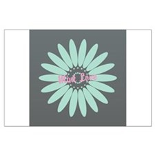 Cute Mint Floral Large Poster