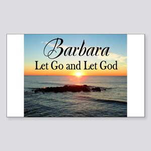 LET GO AND LET GOD Sticker (Rectangle)