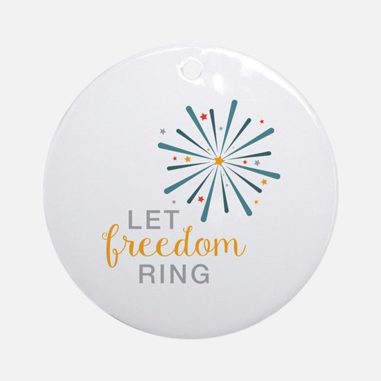 Freedom Ring Ornament (Round)
