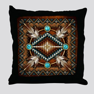 Native American Style Tapestry 1 Throw Pillow