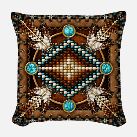 Native American Style Tapestry Woven Throw Pillow