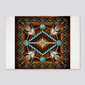 Native American Style Tapestry 1 5 X7 Area Rug