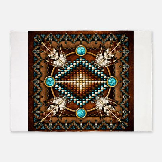 Native American Style Tapestry 1 5'x7'Area Rug