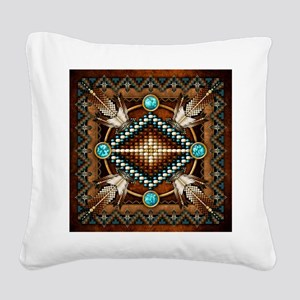 Native American Style Tapestry 1 Square Canvas Pil