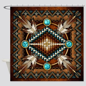 Native American Style Tapestry 1 Shower Curtain
