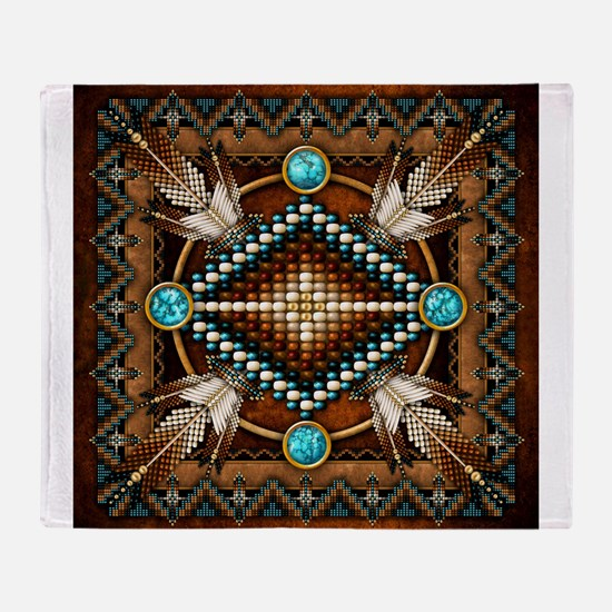 Native American Style Tapestry 1 Throw Blanket