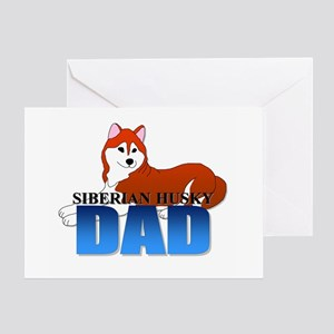 Siberian Husky Dad Greeting Card