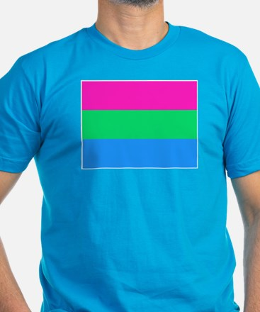Polysexual Pride Flag Men's Fitted T-Shirt (dark)