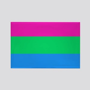 Polysexual Pride Flag Rectangle Magnet
