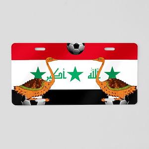 Iraq Football Flag Aluminum License Plate