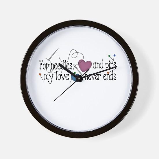 Needles and Pins Wall Clock