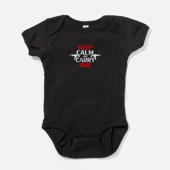 Keep Calm and Carry One Baby Bodysuit