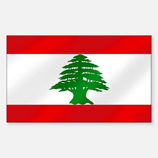 Flag of Lebanon Sticker (Rectangle)