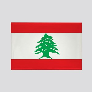 Flag of Lebanon Rectangle Magnet