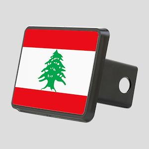 Flag of Lebanon Rectangular Hitch Cover