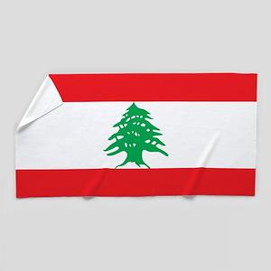 Flag of Lebanon Beach Towel