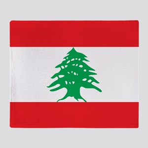 Flag of Lebanon Throw Blanket
