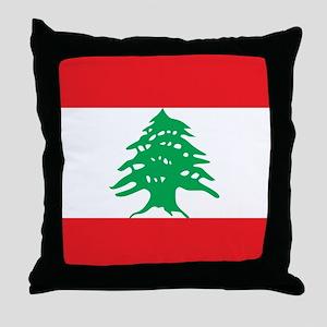 Flag of Lebanon Throw Pillow
