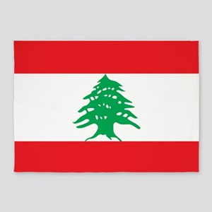 Flag Of Lebanon 5'x7'area Rug