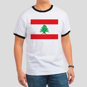 Flag of Lebanon Ringer T