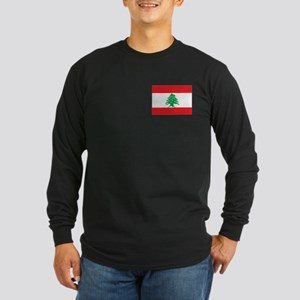 Flag of Lebanon Long Sleeve Dark T-Shirt