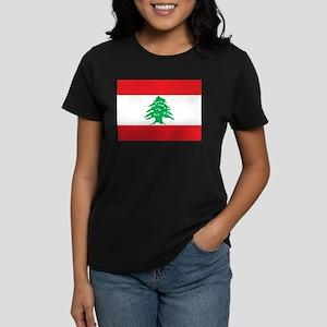Flag of Lebanon Women's Dark T-Shirt